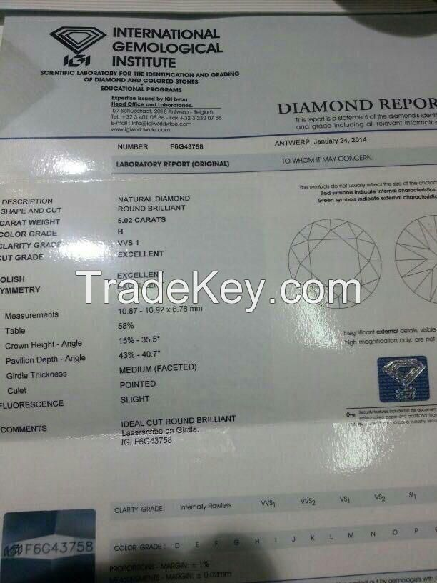 Rough Diamonds, GIA Diamonds, Gold Nugget