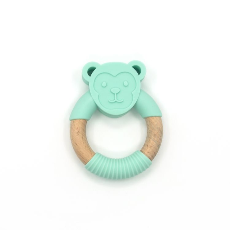 Leatch multi color silicone baby teether manufacturer
