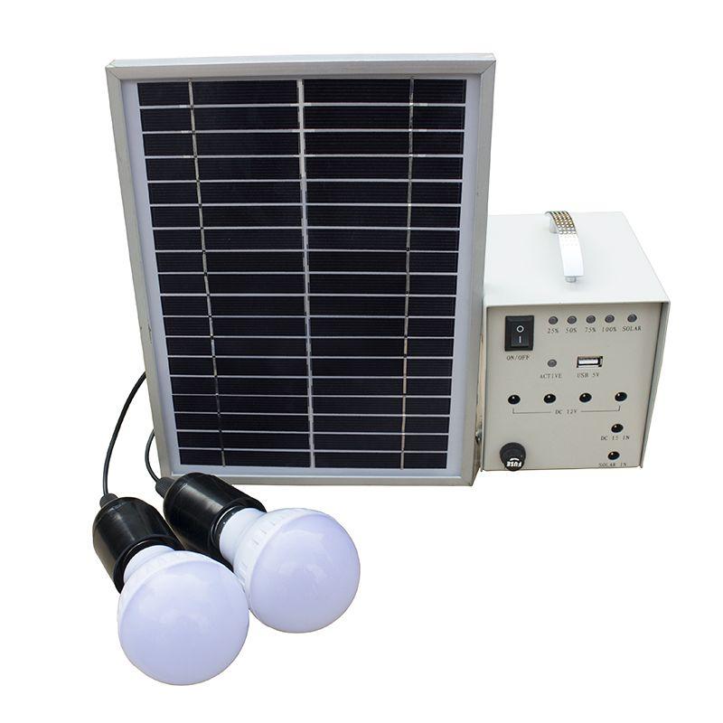 Solar home system 5W 10w Solar kits with led bulbs