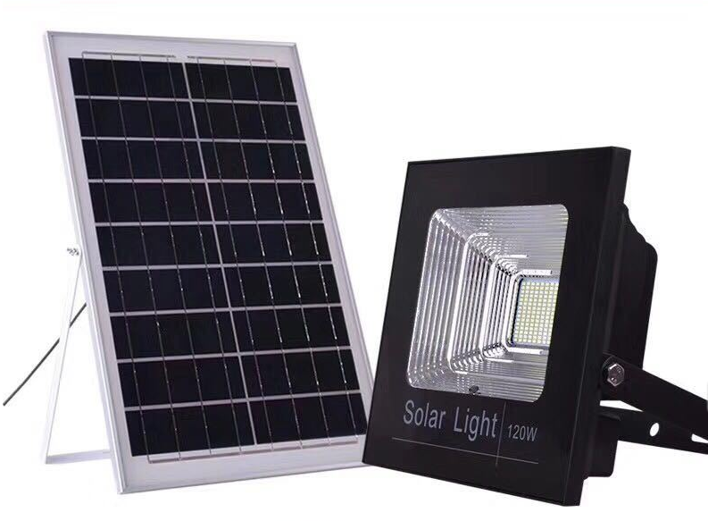 200W outdoor waterproof led solar street lights home remote control solar projection lights floodlights