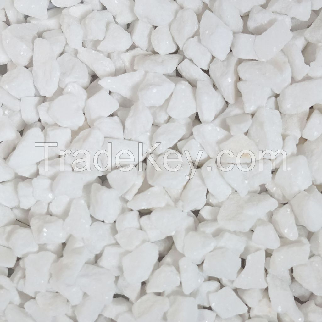 Crushed White Marble Stone Chips