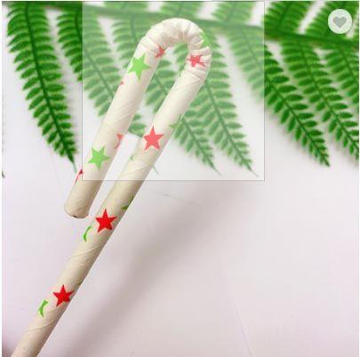 New Design Eco-Friendly Brown Kraft Paper Bent Paper Drinking Straws in Biodegradable Materials Passed Fsc/FDA/Brc/Lsgb