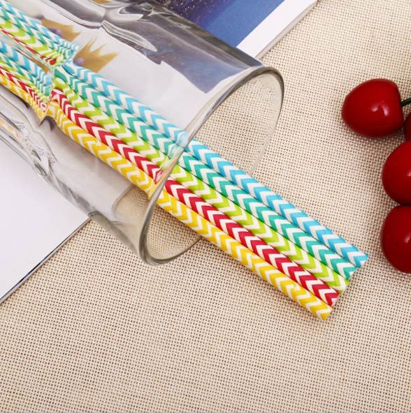 Eco-Friendly Party Supply Biodegradable Drinking Paper Straws