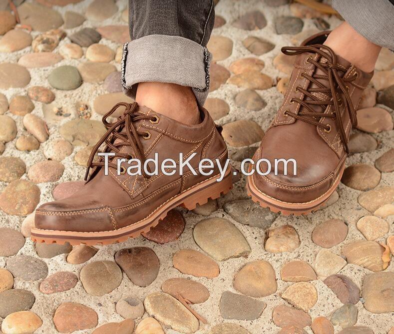 Autumn Martin Boots, Men's Leather Shoes, Men's Business Leisure Shoes,  Men's Lower Upper Laces, Retro Men's Shoes