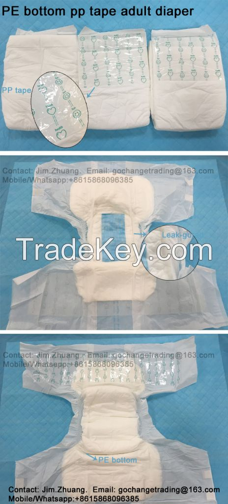 Super absorbent disposable adult diaper nappy for elderly people