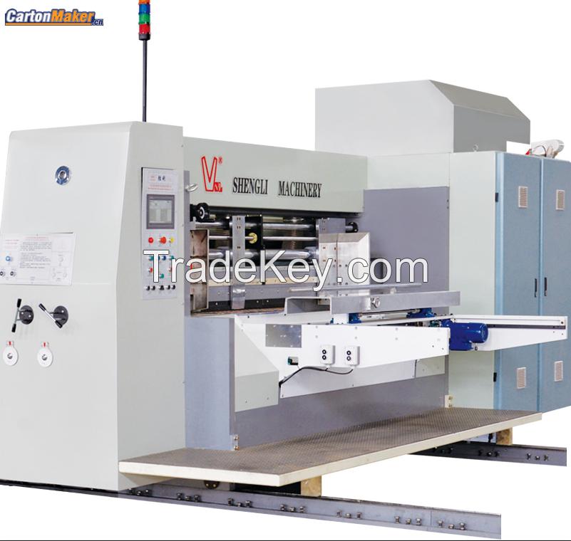 YKW1224 Flexo Printing Slotting Die-cutting Folder Gluer Bundling Linkage Line