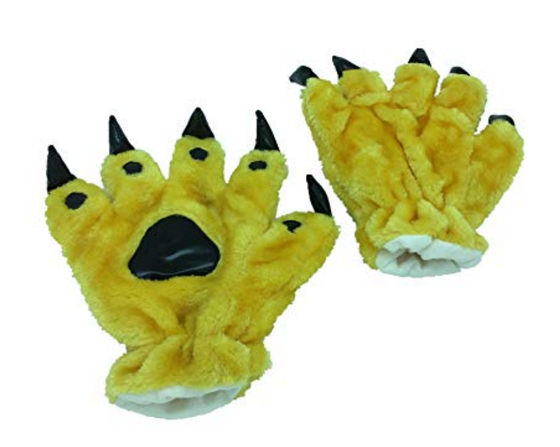 Animal Paw Calw Plush Funny Halloween Costume Hand Gloves