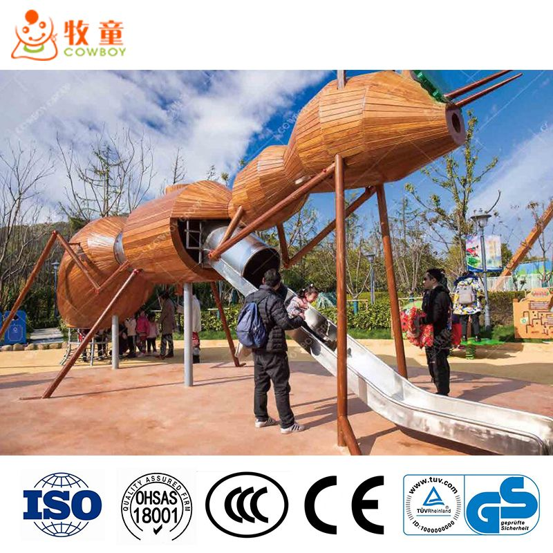 Cowboy Stainless Steel Slide Playground for Amusement Park