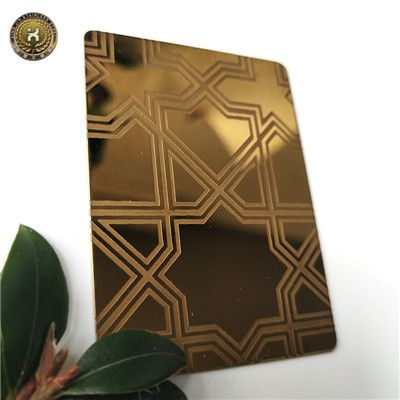 304 Titanium gold Hairline brushed mirror polished stainless steel sheet