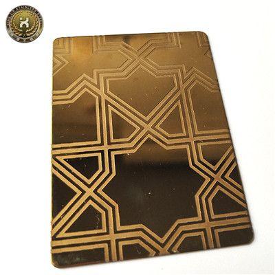 Professional supplier restaurant decorative metal 304 Titanium gold stainless steel sheet