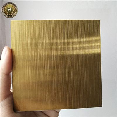 Decorative Metal Sheets Stamped Titanium gold Stainless Steel Sheets