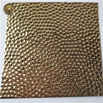 AISI SUS ASTM 316 Decorative 2B Etching Finished Titanium gold Stainless Steel Sheets