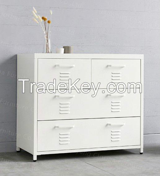 Clorina Living Room Furniture Four Drawers Metal Storage Cabinet