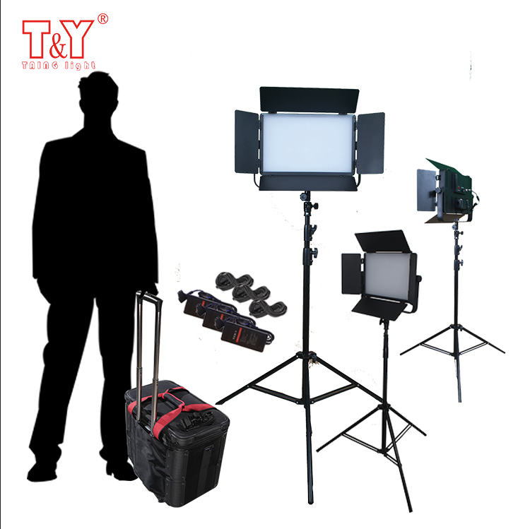 Photography studio ligting kit lights and tripods with carrying case