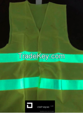 Reflective Glow in the Dark Safety Vest