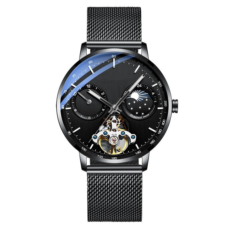Luxury Mechanical Automatic Fashion Stainless Steel Moonphases OEM Watch Manufacturer