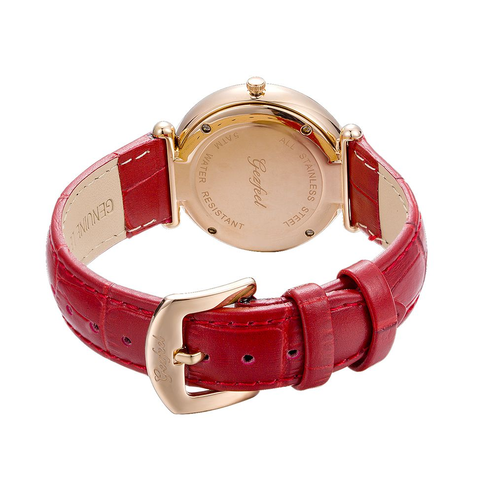 Fashion Ladies Wrist Watch With Japan Movement IP Rose Gold Elegent Women Watch