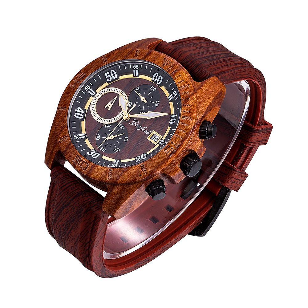 Custom Brand OEM Luxury Sport Handmade Chronograph Wooden Watch
