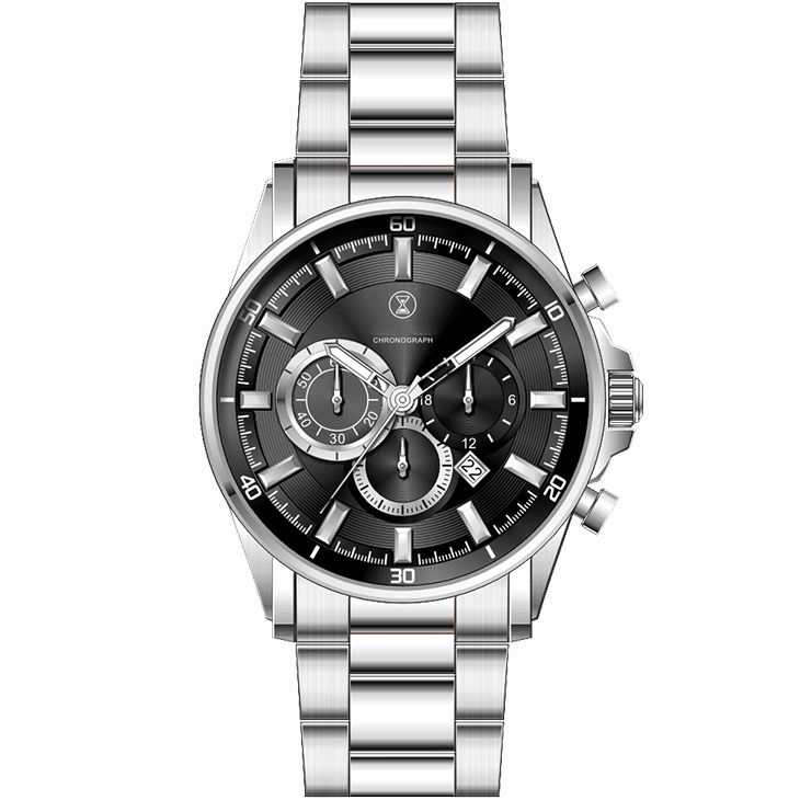 Custom Logo Stainless Steel Japan Movt Quartz Watch Silver And Gold Men'S Luxury Watches Chronography Sport Watch