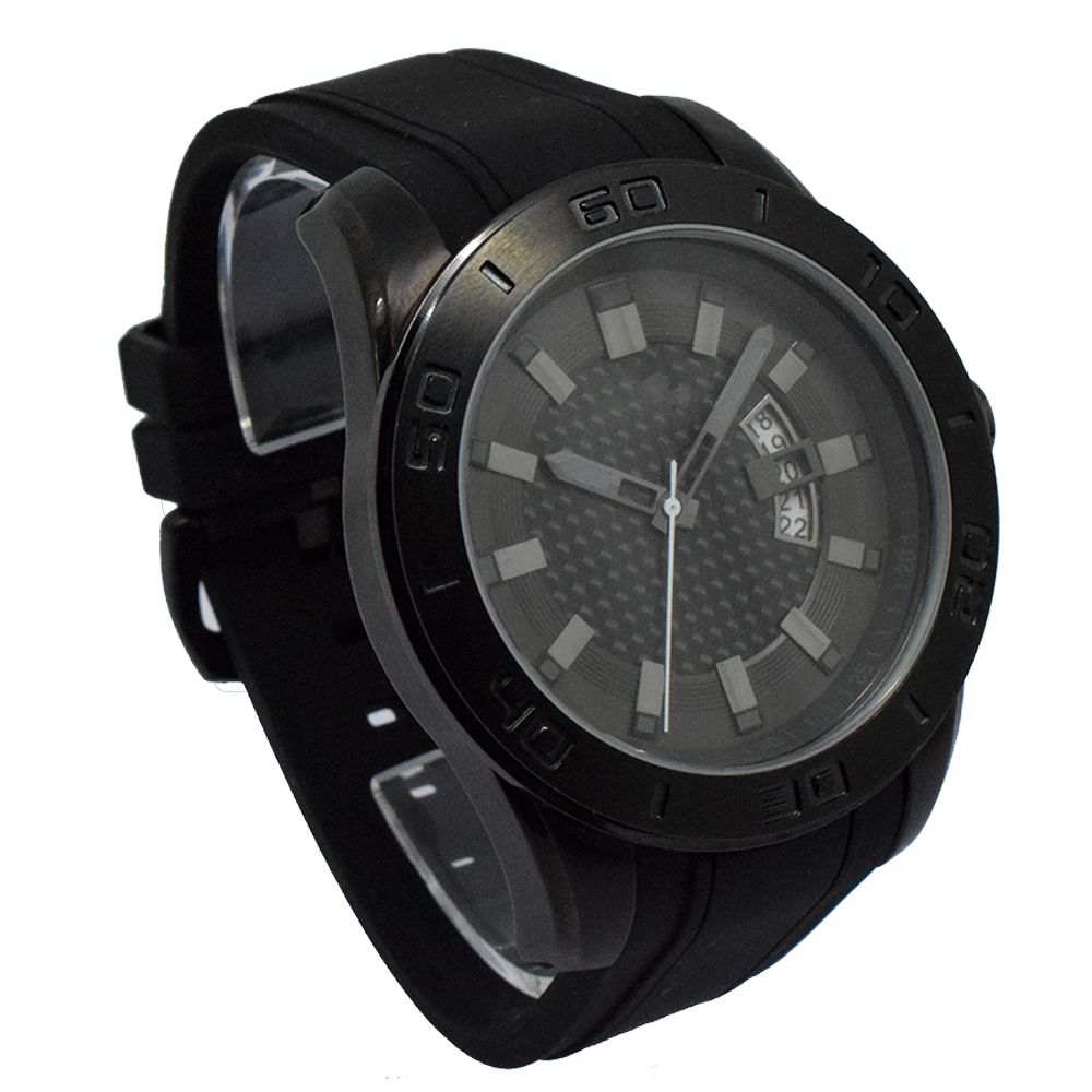 Fashion Outdoor Casual Analog Quartz Men WristWatch with Silicone Band