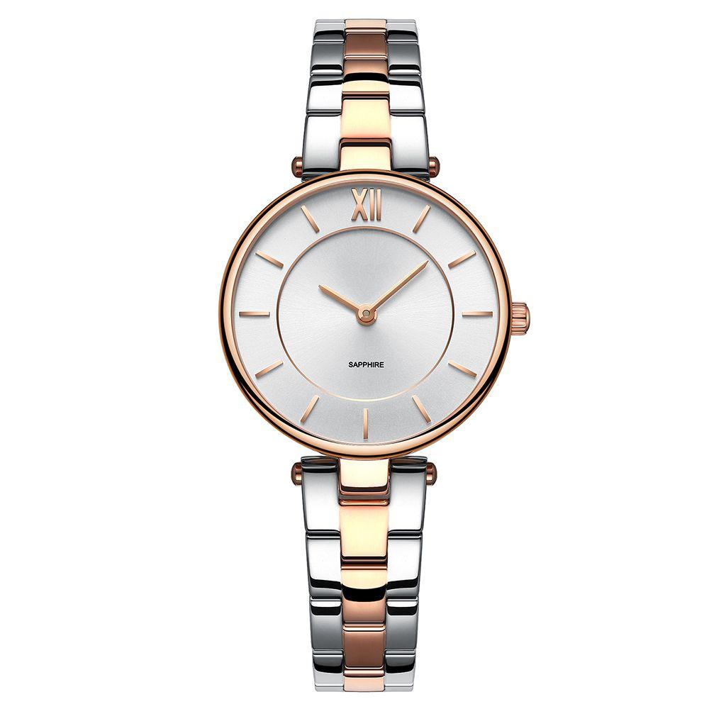 Hot Sell Silver Watch Fashion Quartz Watch Lady Ceramic Watch 50M Waterproof Watch