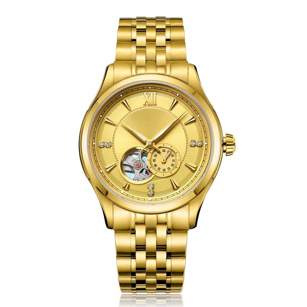 Fashion men watch Made in China stainless steel automatic mechanical movement watch