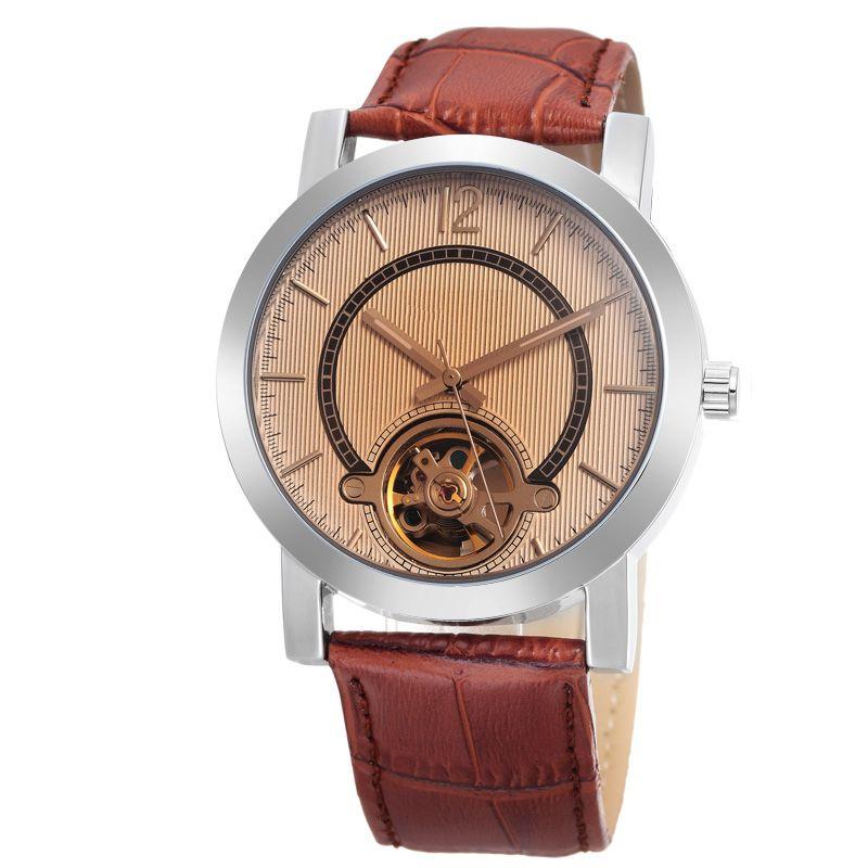New Fashion Design Watch leather wrist watch straps mechanical chronograph watch
