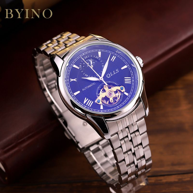 Relojes watch men's automatic mechanical watch stainless steal watch bands