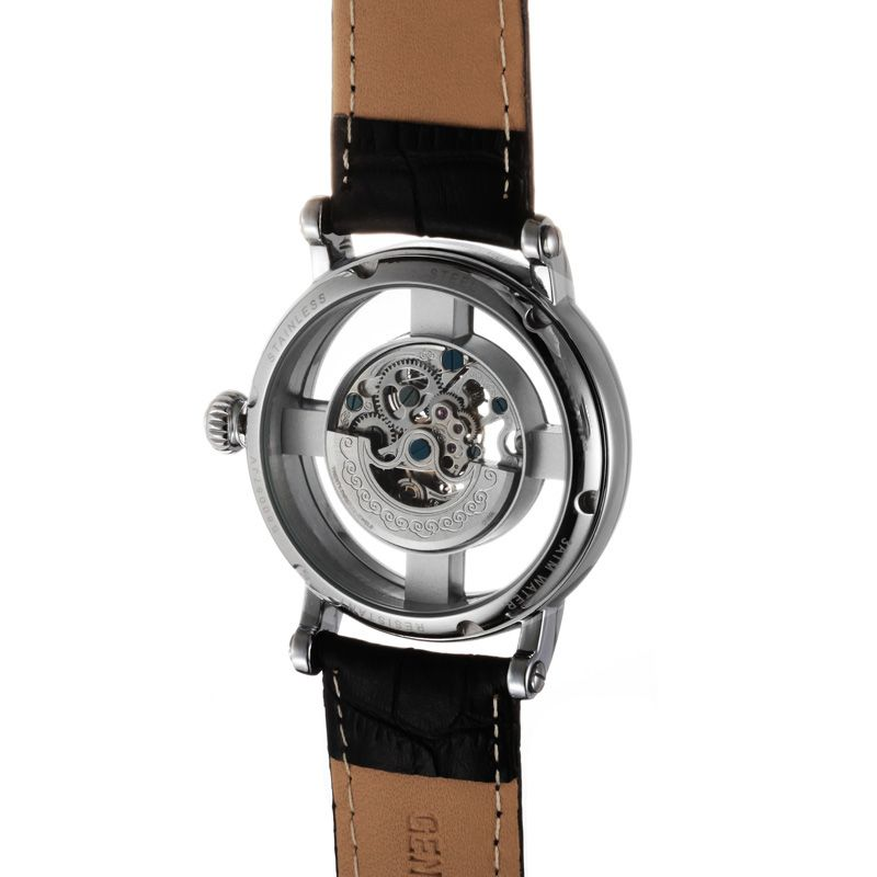 Hollow Design Luxury Brand Watch Strap Leather Men Automatic Mechanical Watch From China