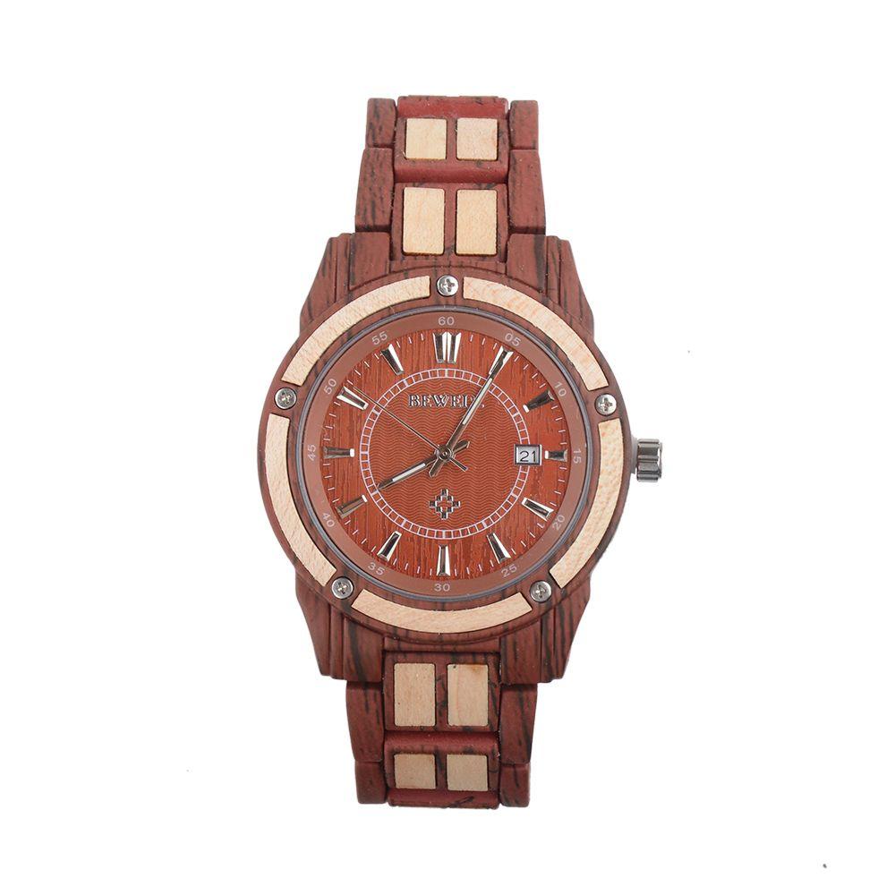 2019 New arrival wood complete calendar quartz wooden watches