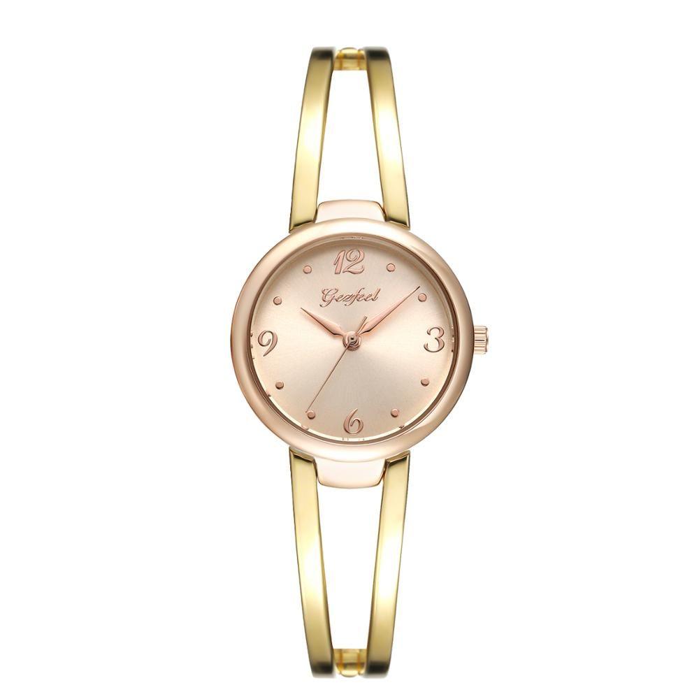 New Design Fashion Gift brass Wrist Watch for lady