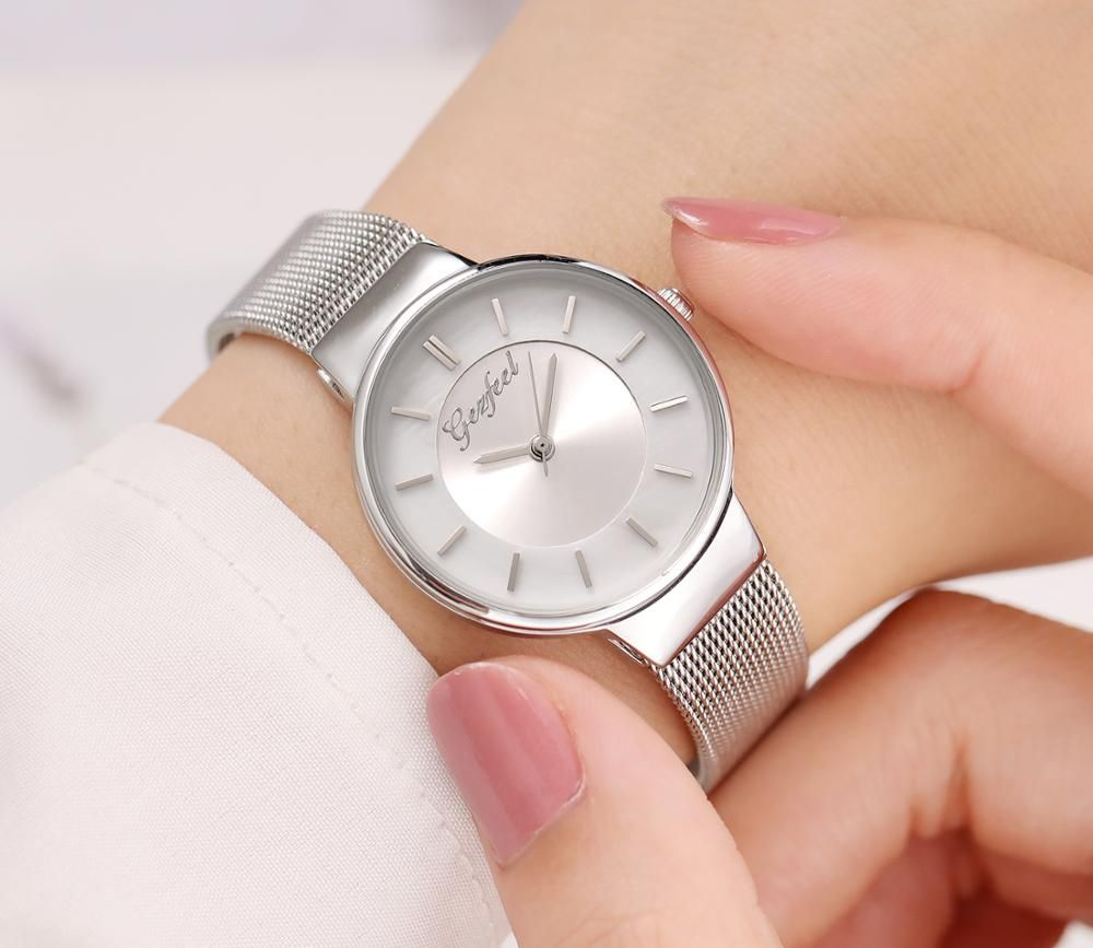 Latest Fashion Quartz Watch With Mesh Band Water Resistant Women Watch