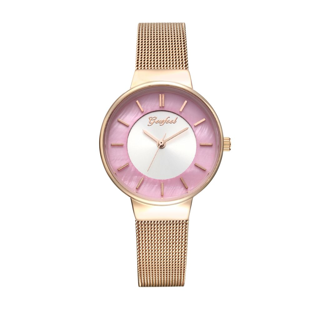 Welcomed Fashion Gift Metal Brass Material Cheap Women Wrist Watch