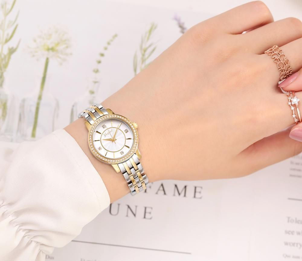 Custom Fashion Brass Metal Craft 3ATM Water Resistant Lady Watch