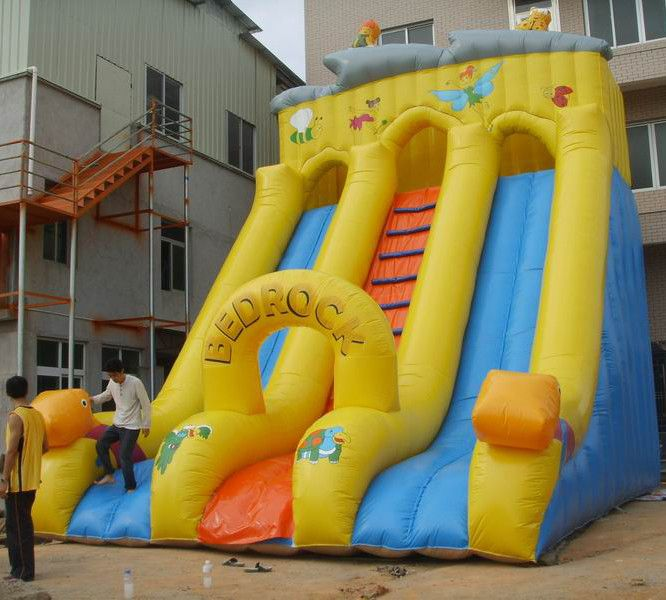 Wholesale Commercial Grade Inflatable Bouncy Double Slide For Kids B4134