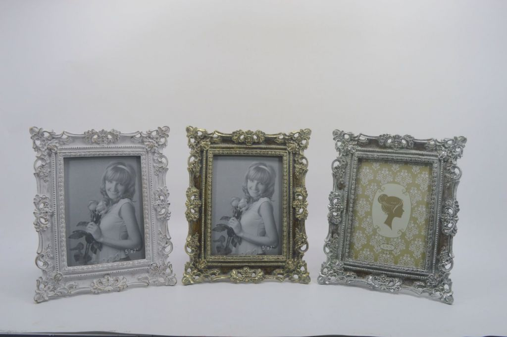 Picture frame vintage resin Picture frame with flowers