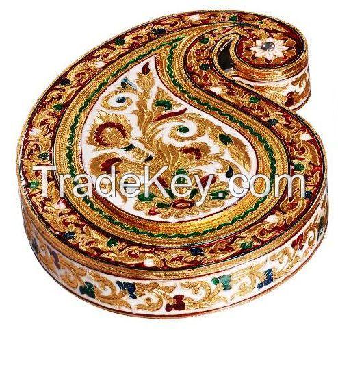 Apple Shape Meenakari Decorative Dry Fruit Box