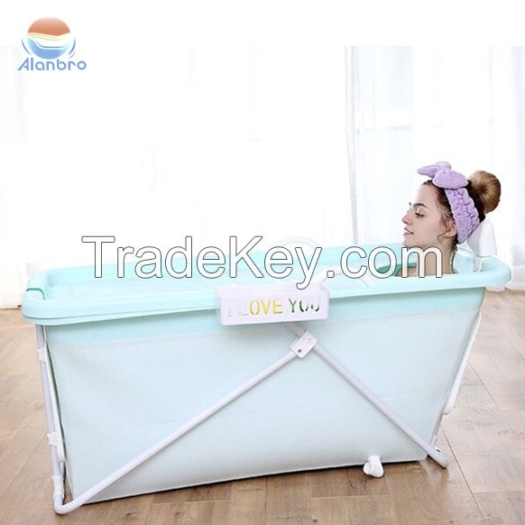 Beautiful and comfortable design  Good quality foldable plastic Cheap prices PP Plastic Portable Bathtub for Adults