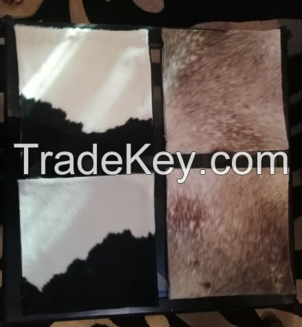 Cowhide pillow covers