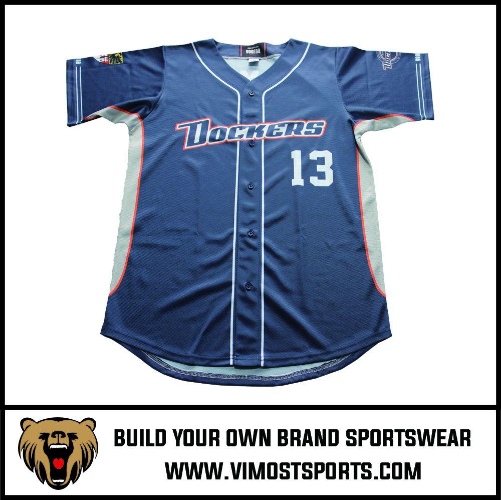OEM 100% polyester Custom Sublimation Baseball Jersey
