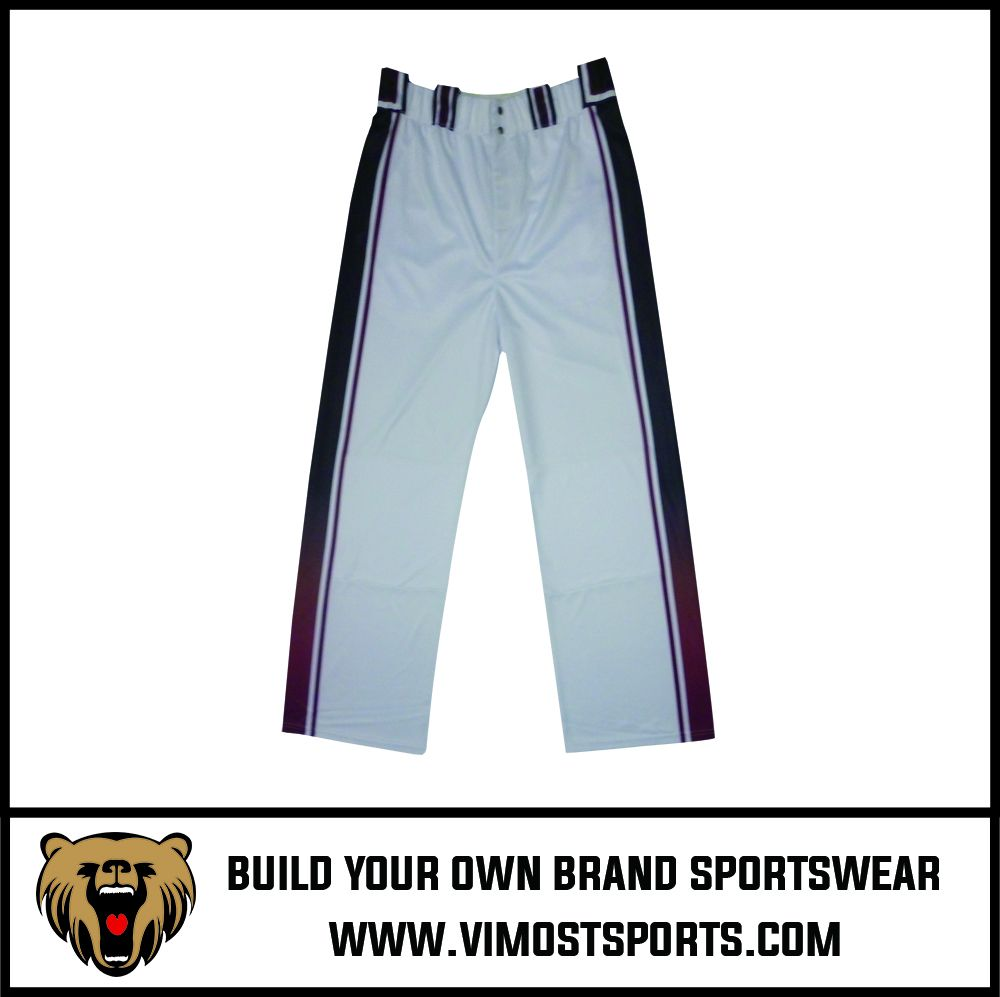 OEM 100% polyester Custom Sublimation Baseball Pants