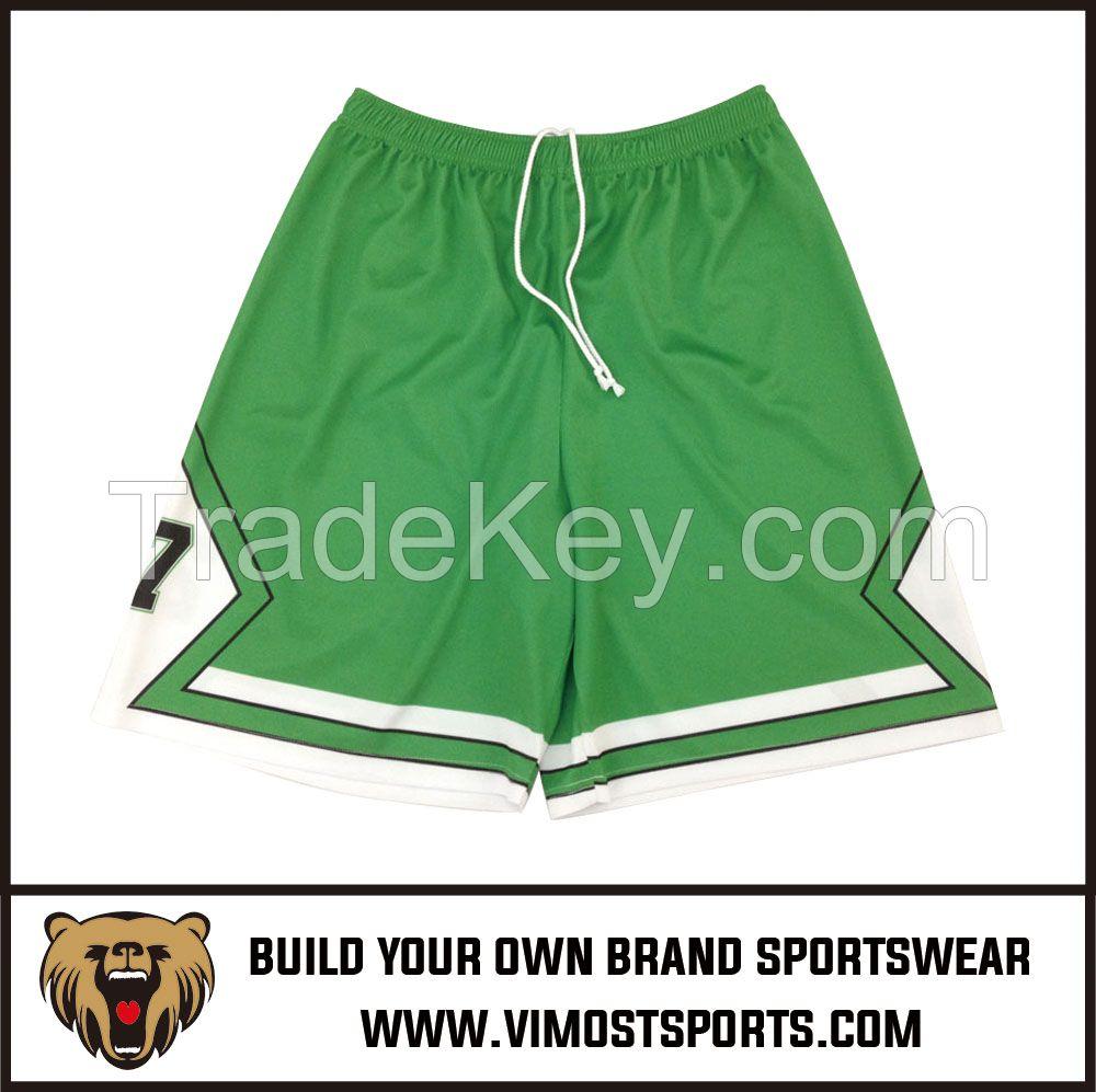 OEM 100% polyester Custom Sublimation Basketball Short