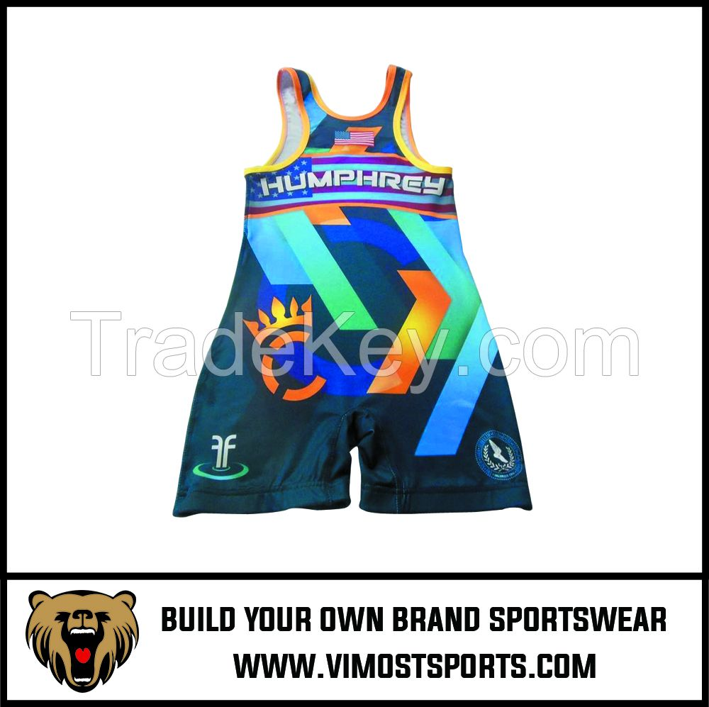 Custom Sublimation Best Sale Wrestling Singlet