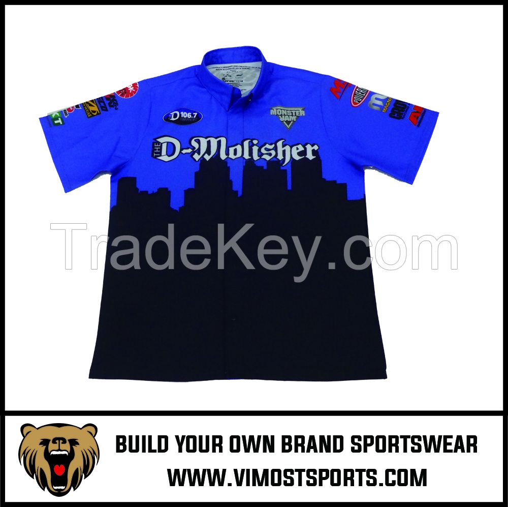 Customized Design 100% Polyester Motorcycling Shirts