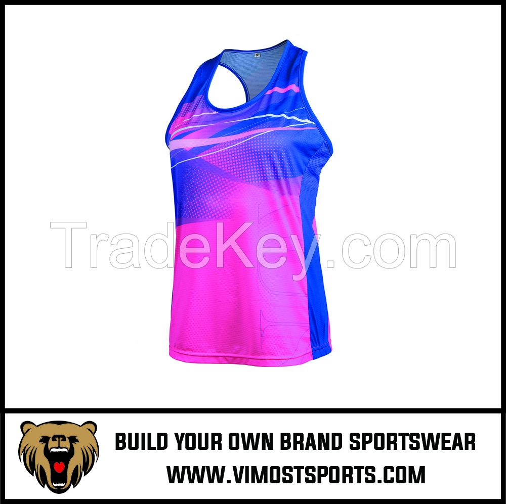Hot Sale Custom Sublimation Cool Dry women Singlet