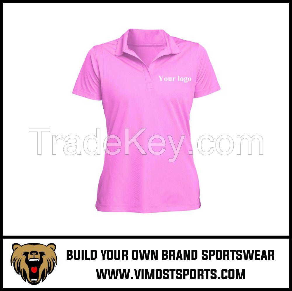 Custom LOGO  Sublimation Cool Dry Women Polo Shirt