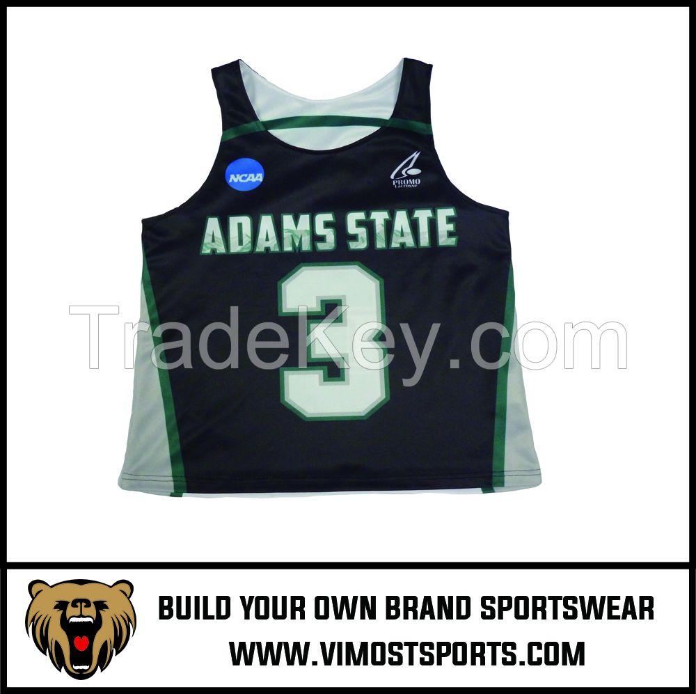 Custom Team LOGO Men Lacrosse reversible pinnies