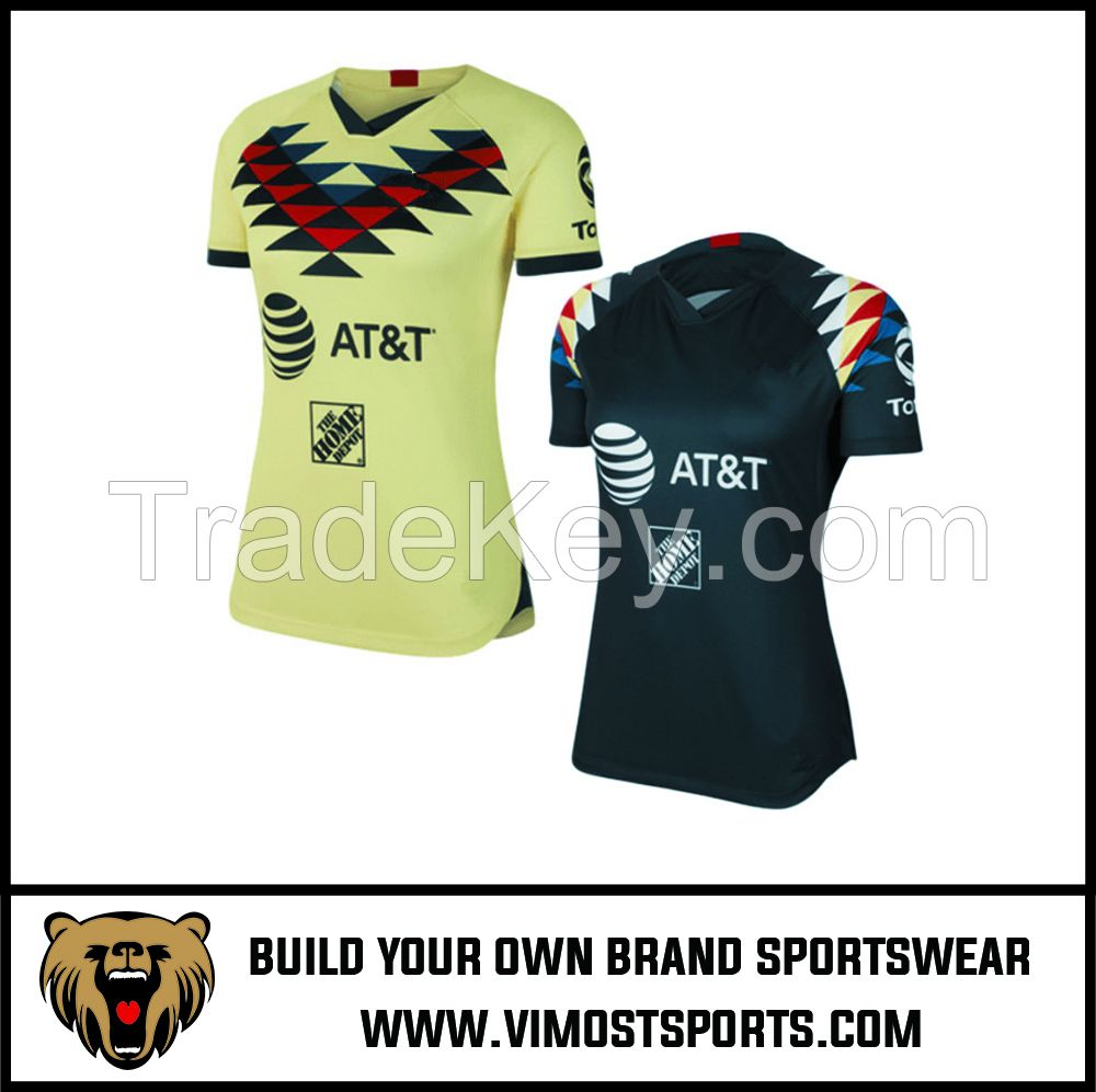 Custom Team LOGO Sublimation Women Soccer Football Jersey