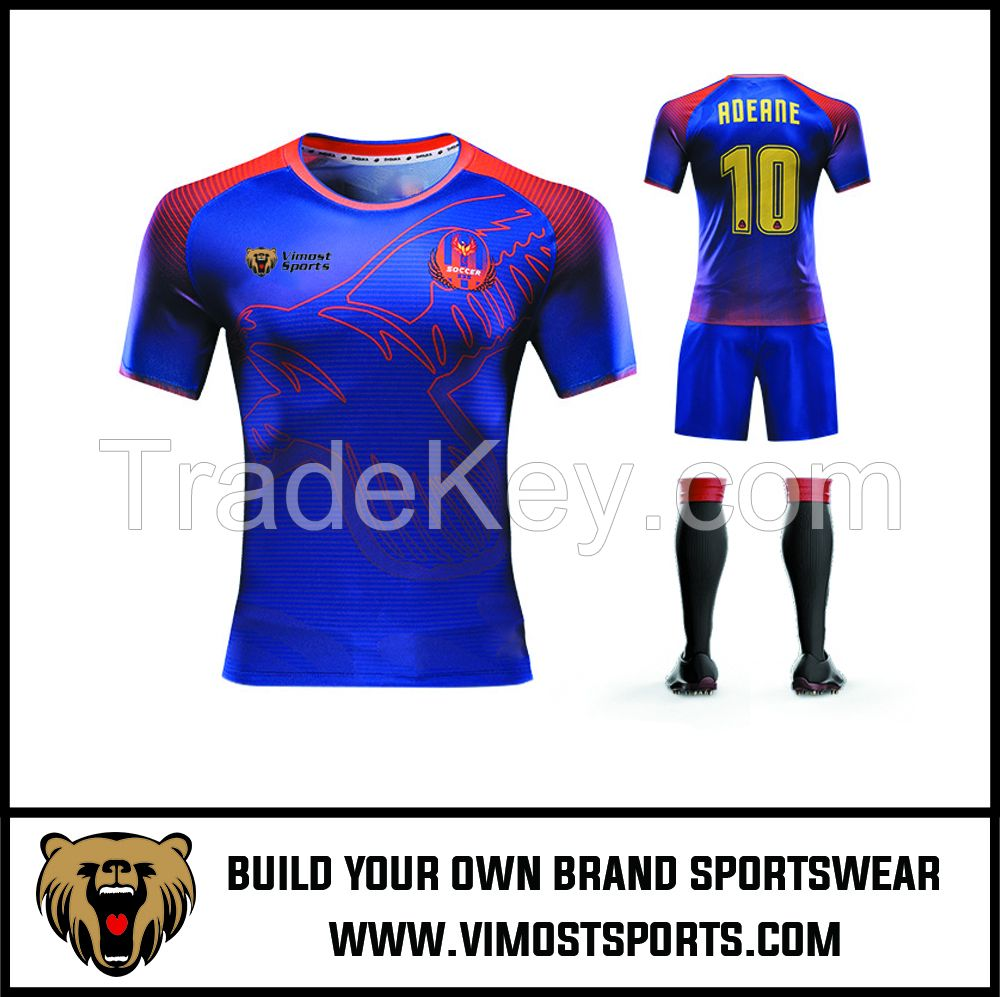 Custom Team LOGO Sublimation Men Soccer Set