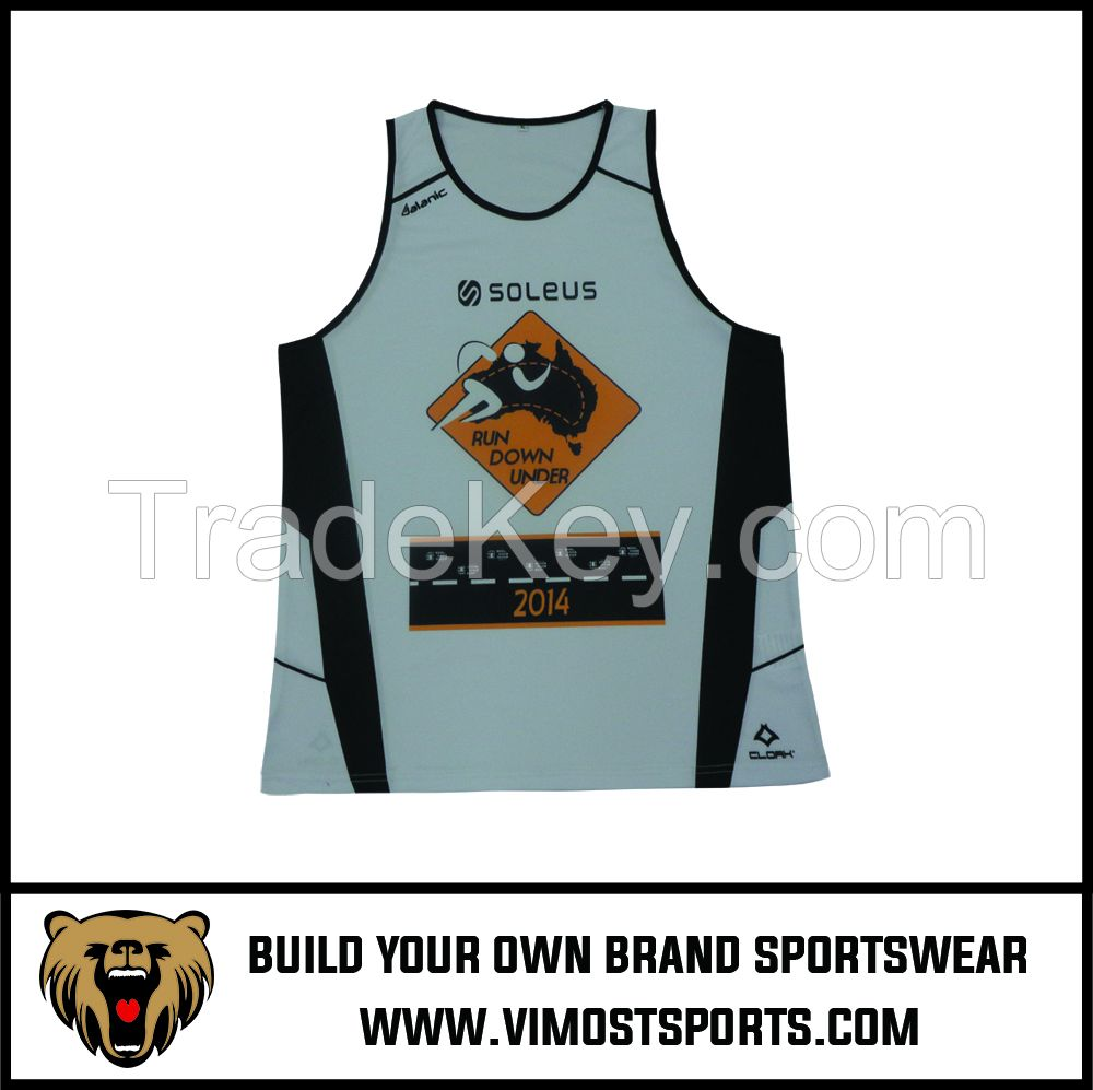 New Cheap Custom Design Breathable Gym Vest Tank Top Sublimation Men Gym Singlet For Sport